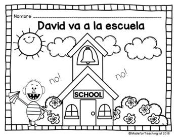 David va a la escuela