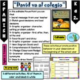 David va al colegio/Spanish