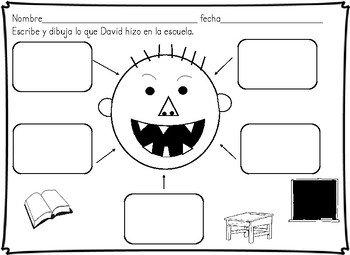 David va al colegio David goes to school Spanish Bundle