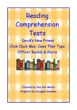 David's New Friend Click Clack Moo Officer Buckle & Gloria Tests