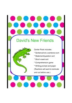 David's New Friends Center Pack