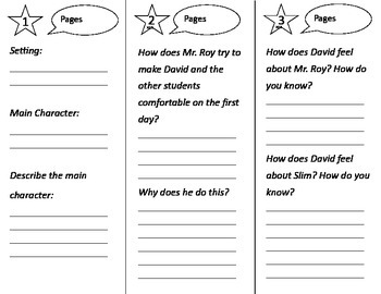 David's New Friends Trifold - Treasures 2nd Grade Unit 1 Week 1 (2011)
