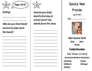 David's New Friends Trifold - Treasures 2nd Grade Unit 1 W