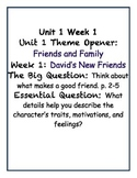 David's New Friends by Pat Mora- Vocabulary Cards