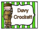 Davy Crockett! An integrated ELA and Social Studies Pack