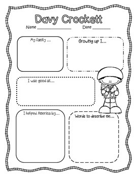 Davy Crockett! An integrated ELA and Social Studies Pack