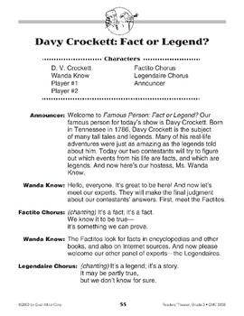 Davy Crockett, Fact or Legend?