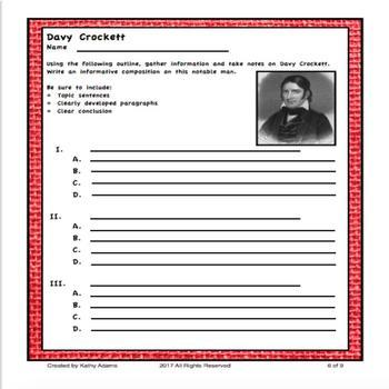 Davy Crockett Research and Writing