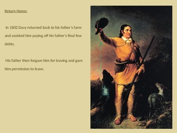 Davy Crockett - Power Point - Life Story Pictures Facts Information