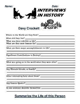 Davy Crockett Research and interview Assignment
