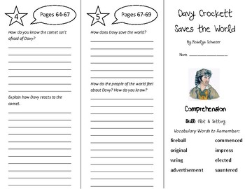 Davy Crockett Saves the World Trifold - Treasures 5th Grade Unit 1 Week 2 (2009)