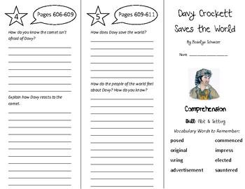 Davy Crockett Saves the World Trifold - Treasures 5th Grade Unit 5 Week 4 (2011)