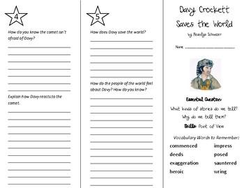 Davy Crockett Saves the World Trifold - Wonders 5th Grade Unit 4 Week 1