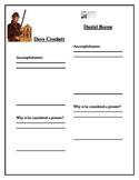 Davy Crockett and Daniel Boone Response