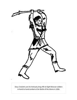 davy crocket coloring pages - photo#14