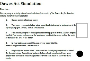 Dawes Act Simulation