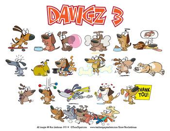 Dawgz (Dogs) Cartoon Clipart Vol. 3