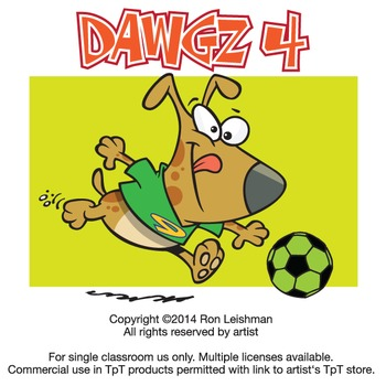 Dawgz (Dogs) Cartoon Clipart Vol. 4