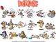 Dawgz (Dogs) Cartoon Clipart