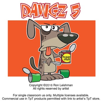 Dawgz (Dogs) Cartoon Clipart Vol. 5