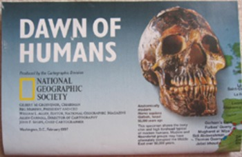 MAP Dawn of Humans National Geographic Society history evo