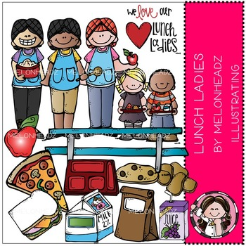 Melonheadz: Lunch Lady clip art - COMBO PACK