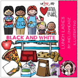 Lunch Lady clip art - BLACK AND WHITE- by Melonheadz