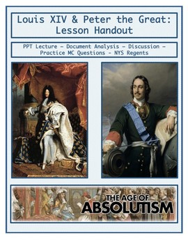 Day 062_Absolute Monarchs: Louis XIV and Peter the Great - Lesson Handout