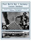 Day 099_Post World War I Germany: Weimer Republic - Lesson Handout