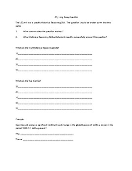 AP- Day 1 Worksheet for Comparative Essay