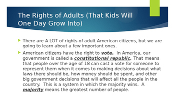 Day 1 of 2 Rights and Responsibilities of American Citizens