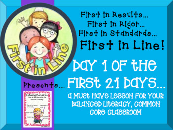 Day 1 of the First 21 Days for Balanced Literacy (Common Core Aligned)