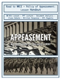 Day 101_Aggressor Nations in the 1930s & Appeasement - Lesson Handout