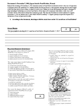 Day 106_WW II: Japan Attacks Pearl Harbor & Pacific Theater - Lesson Handout