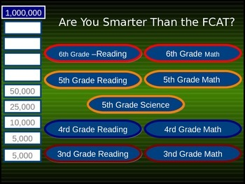 Day 2 Are you Smarter than the FCAT?