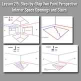 Lesson 2/5: Perspective Drawing Boot Camp: Step-by-Step PowerPoints w/Handouts