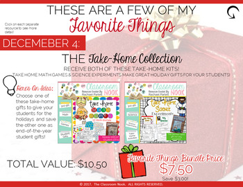 Day 2: These Are a Few of My Favorite Things:  The Take-Home Collection