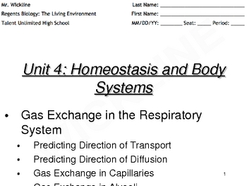 Day 2 of Gas Exchange in the Respiratory System