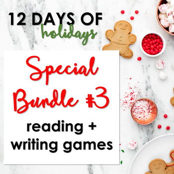 "Day 3: ""12 Days of Holidays"" Special Bundle Reading + Writing Games"