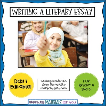 Day 3_Teaching the Literary Essay