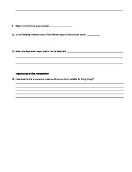 Day 4 worksheet the air around you