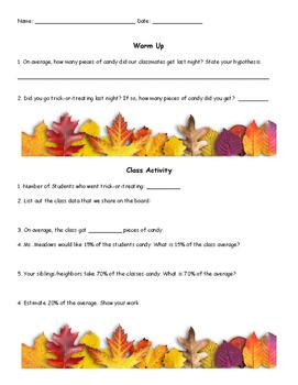 Day After Halloween Math Worksheet
