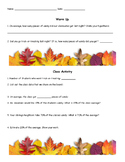 Day After Halloween Math Worksheet