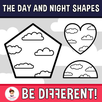 Day And Night Shapes Clipart