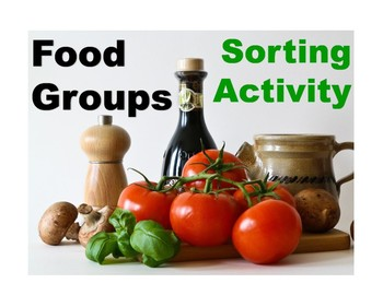 Food Groups Sorting Cards Activity