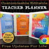 Teacher Planner 2019-2020 / Google Drive / EDITABLE / Planner Binder ⭐⭐⭐⭐