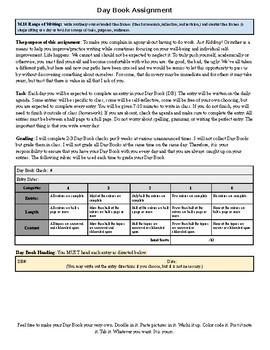 Day Book (Journal) Assignment