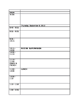 Day Book Template