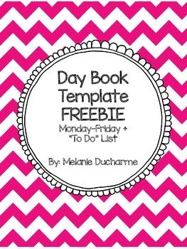 Day Book Template FREEBIE