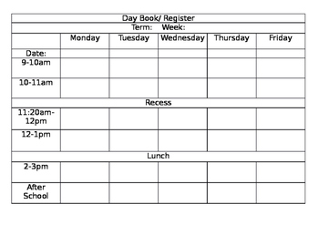 Day Book  and Register
